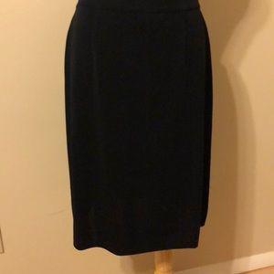 Misook basic black knit skirt